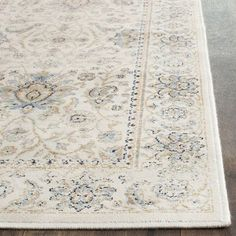 Darby Home Co Persian Garden Vintage Ivory/Ivory Area Rug Rug Size: 8' x 11'