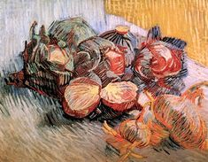 Vincent van Gogh (1853-1890), Still Life with Red Cabbages and Onions (1887)