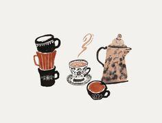 world experience — Danielle Kroll Coffee Illustration, Pencil Illustration, Little Doodles, Latte Art, Computer Wallpaper, Food Illustrations, Crayon, Cute Drawings, Artsy