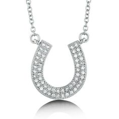 Cubic Zirconia CZ 925 Sterling Silver Lucky Horseshoe Pendant Necklace - Nickel Free BERRICLE. $61.99. Gender : Women. Metal : Stamped 925. Stone Type : Cubic Zirconia. Stone Total Weight (ct.tw) : 0.27. Nickel Free and Hypoallergenic. Save 60%!