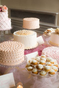 If I had it to do over again, I would have done one 2-tier fancy cake to cut & a bunch of butter cream frosted single tier cakes to eat!