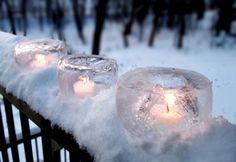 Icy Candle Light