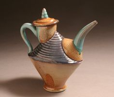 Mark Johnson teapot - lots of pieces!