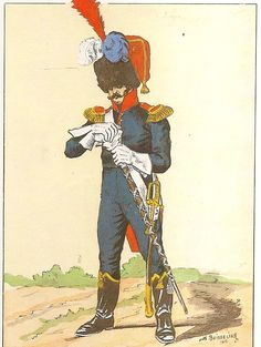 French; 8th Line Infantry, Drum-major, Petite Tenue
