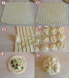 milföy poğaça yapımı Bread Cake, No Bake Cake, Tarte, Mad, Baking Recipes, Sweet Pastries, Bread And Pastries, Turkish Recipes, Ethnic Recipes