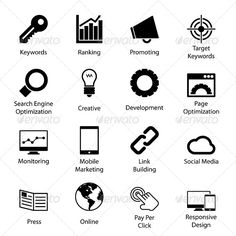 Seo Icons — Photoshop PSD #monitor #media • Available here → https://graphicriver.net/item/seo-icons/5827360?ref=pxcr