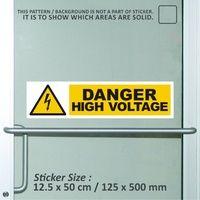 sticker safety sign K3 bekasi murah danger high vo