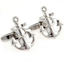 Anchor's Away Funny Cufflinks - A classic nautical cufflinks perfect for any vacation getaway or yacht enthusiast.
