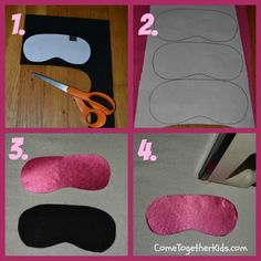 felt & 1 other cloth layers use cheap headbands between layers - easier than elastic! Come Together Kids: Personalized Pillowcases and Matching Sleep Masks