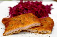Snitel de porc by Andi Cordon Bleu, Meat, Chicken, Drinks, House, Pork, Drinking, Beverages, Home