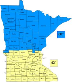 Back To Map Minnesota Extreme Frost Line Penetration (in inches) State Average Frost Depth: Source: Minnesota Department of Labor & Industry Building Columns, Building Plans, Rigid Insulation, Red Lake, Energy Conservation, Concrete Slab, Cabin Design, South Dakota, Home Builders