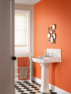 Set off a colour explosion in your Bathroom with our new colour 'Bath Bomb', a vibrant orange from our new Bathroom collection