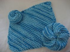 Knit dishcloth and scrubby