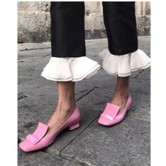 Share to get a coupon for all on FSJ Pink Patent Leather Loafers for Women Cute Square Toe Flats Looks Style, Looks Cool, My Style, Moda Fashion, Fashion Shoes, Fashion Trends, Womens Fashion, Style Fashion, Ladies Fashion