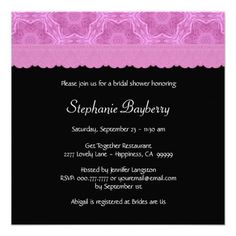 Pink Star Flower Pattern with Lace Bridal Shower Custom Invitations Bridal Shower Invitations, Custom Invitations, Invitation Design, Invite, Pink Stars, Star Flower, Pink Polka Dots, Bridal Lace, Flower Patterns