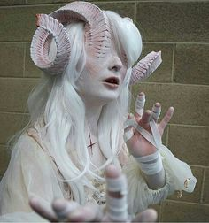 Last few of the Albino Demoness for now! Im so happy people like her and I Last few of the Albino Demoness for now! Im so happy people like her and Im definitely cooking something interesting up for my next Cosplay Makeup, Costume Makeup, Demon Costume, Fantasy Makeup, Fantasy Art, Arte Obscura, Special Effects Makeup, Arte Horror, Maquillage Halloween
