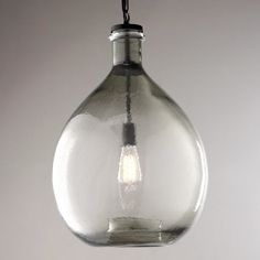 Over the island-Check out Oversized Glass Jug Pendant from Shades of Light
