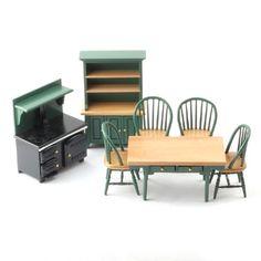 1:12 scale Green Kitchen set