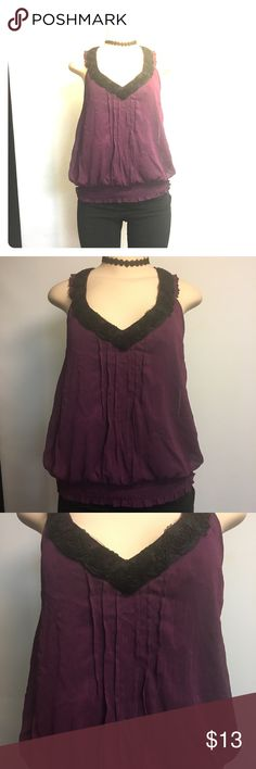 "XOXO Purple Sleeveless Top Blouse sz M Excellent Condition, no holes tears or stains Used, but not abused Home free smoke Please kindly choose contact us and select topic ""I have a question about using my item"" or ""I want to send the seller a message"". Please check the detailed photos ! What you see is what you will receive!!!  Thank you for looking XOXO Tops Blouses"