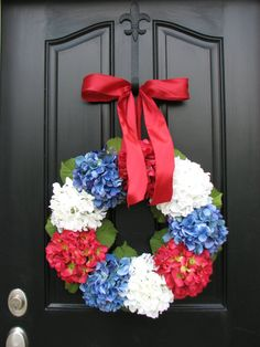 PATRIOTIC Holiday Wreaths 4th of July Wreath by twoinspireyou, $64.00