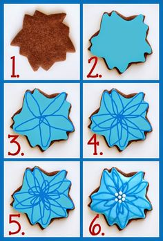 Wet on wet technique for Decorated Poinsettia Cookies (Tutorial)