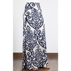 Candle Print Maxi Skirt found on Polyvore