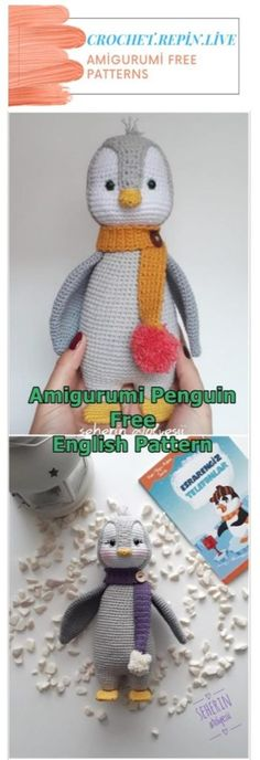 Penguin Amigurumi Free Crochet Pattern Free Crochet, Knit Crochet, Crochet Hats, Half Double Crochet, Single Crochet, Magic Circle, Crochet Patterns Amigurumi, Crochet Animals, Stuffed Toys Patterns