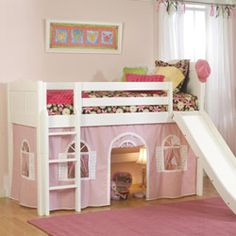 Princess Charlotte Low Loft Bed Loft Beds - aBaby.Com