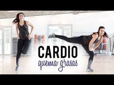 Cardio quema grasas: Adelgazar brazos y espalda - YouTube