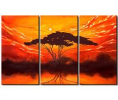 Paysages pittoresques pleins de soleil et de nature merveilleuse - voici la collection de Paysages Africains #paysage #tableaux #tableau #décoration #photos #peinture #Afrique #home #decor