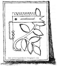 art scrap & more: a sketch & a card - texture, texture, texture