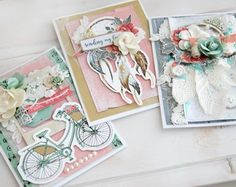 Greeting Cards by designer Alena Grinchuk for KaiserCraft featuring the Boho Dreams collection.