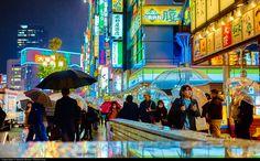 Tokyo - Shinjuku station in the rain