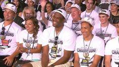 "SPURS 2014 CHAMPIONSHIP CELEBRATION@ THE ALAMO DOME. David Robinson ""The Admiral in attendance"