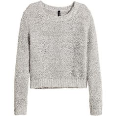 H&M Jumper ($6.24) ❤ liked on Polyvore featuring tops, sweaters, shirts, jumpers, grey marl, long-sleeve shirt, long sleeve sweater, h&m shirts, h&m sweaters and shirt sweater