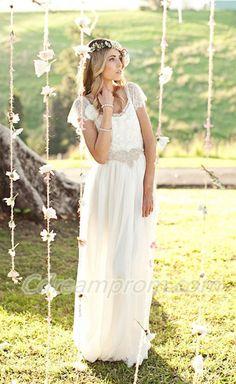 beach wedding dress #wedding #dresses