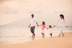 Happy Family have Fun Walking on Beach at Sunset ...  active, adult, beach, boy, child, childhood, dad, daddy, daughter, evening, family, father, fit, fun, girl, golden, happy, healthy, joy, jump, kids, life, lifestyle, love, male, mom, mother, ocean, outdoors, parent, people, run, sand, sea, sky, smile, son, summer, sun, sunrise, sunset, together, travel, tropical, vacation, walking, warm, water, women, young