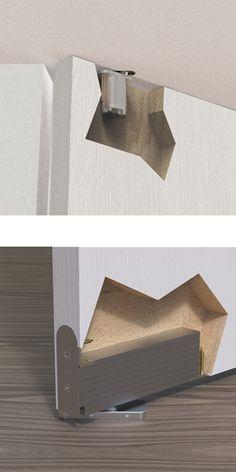 Arched Doors, Entry Doors, Windows And Doors, Modern Interior, Home Interior Design, Concealed Door Hinges, Invisible Doors, Home Door Design, Wooden Bedroom