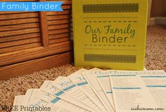 DIY Family Binder with FREE Printables! Get organized from A to Z! #familybinder…