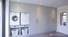 Browse laundry room ideas and decor inspiration. Discover designs for custom laundry rooms and closets, including utility room organization and storage solutions. Laundry Room Organization, Laundry Storage, Laundry Room Design, Small Storage, Storage Room, Closet Storage, Storage Shelves, Storage Ideas, Small Shelves