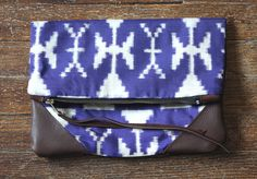 NOMAD Collection - STELLA Leather & Kimono Clutch
