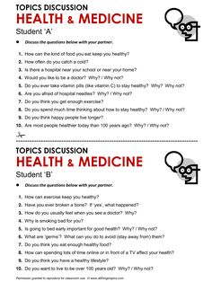 Speaking - Health and Medicine