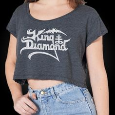 OFFICIAL ~ KING DIAMOND Logo Crop Top