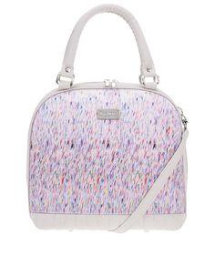 Dara bags - Béžovošedá vzorovaná menší kabelka  Sweet Angel Bell - 1