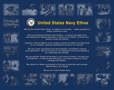 #USNavy Ethos - We are the United States Navy.