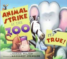 Letter Z = Zoo. The zoo animals go on strike until the tears of a disappointed little girl make them realize that they actually like what they do.