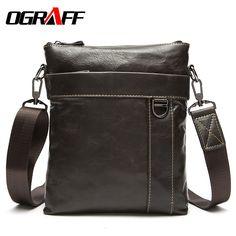 b0ee96538611 QIUSHA Genuine Leather Bag Men Messenger Bag Briefcase Business Vintage  Shoulder Bag Brands Crossbody Briefcase Bag For Man -in Crossbody Bags from  Luggage ...