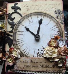 I love clocks and watches.  This steampunk style scrapbook is to die for!