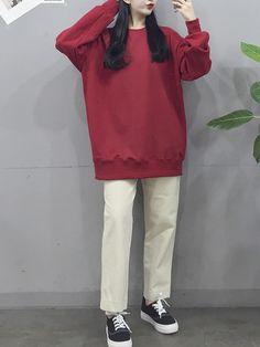 Korean Fashion Trends, Korea Fashion, Kpop Fashion, Fashion Pants, Modest Fashion, Asian Fashion, Teen Fashion, Fashion Outfits, Kpop Outfits
