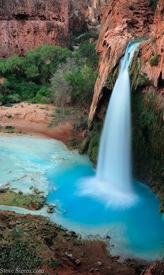 Havasu Falls in the Grand Canyon of Arizona • photo: Steve Sieren on 500px